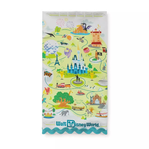 Walt Disney World Map Kitchen Towel