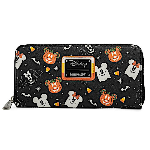 Loungefly Disney Halloween Spooky Mickey Mouse And Minnie Mouse Candy Corn Wallet
