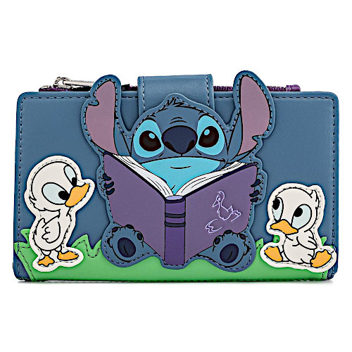 Loungefly Disney Lilo & Stitch Storytime Ducklings Flap Wallet