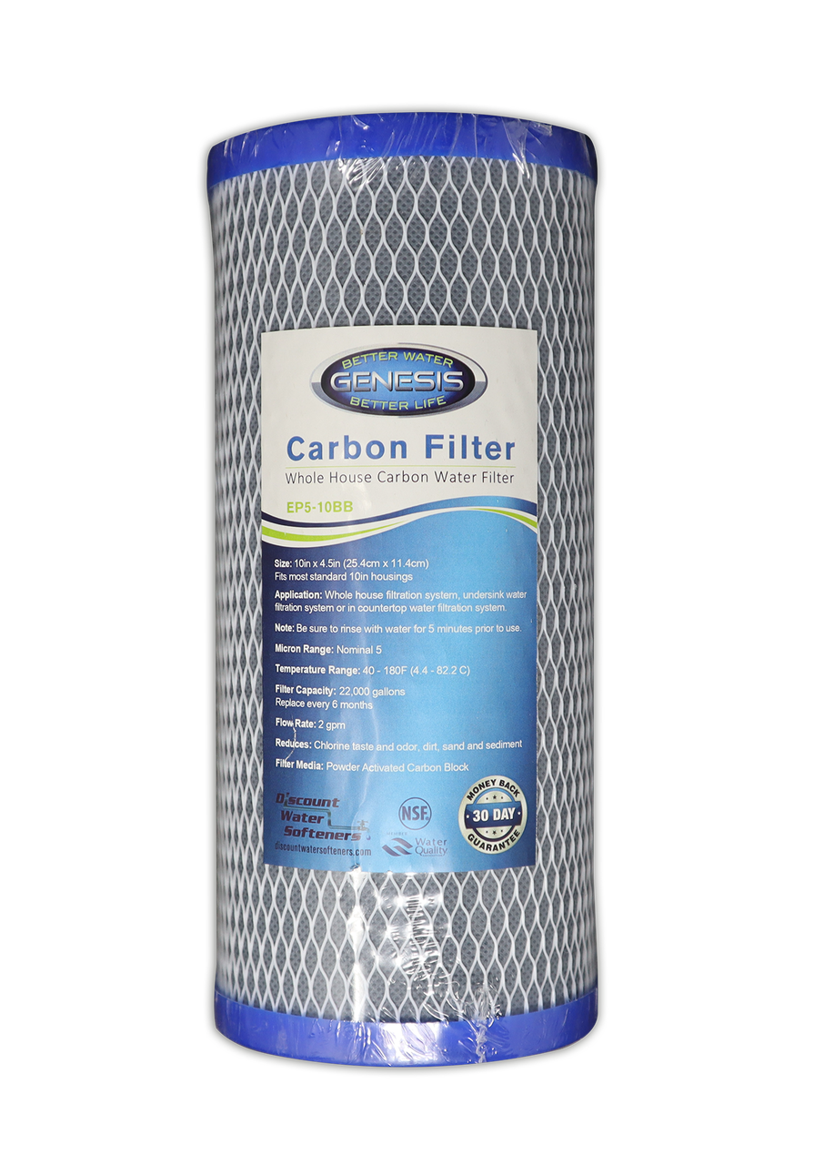 """10/"""" Big Blue 2 Sediment 4 Carbon Water Filter Replacement"""