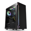 Thermaltake H200 Tempered Glass RGB Edition ATX Mid-Tower Black Case with 1 x Black 120mm Rear Fan Pre-Installed