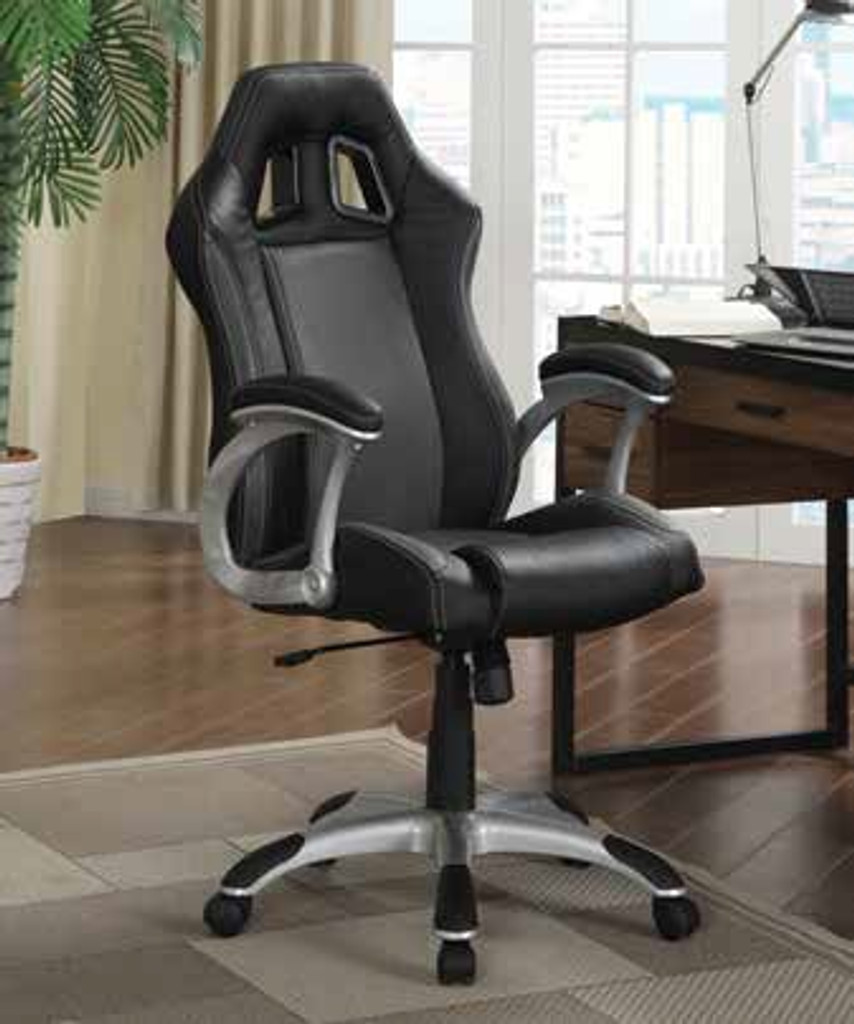 Black/Silver Office Chair