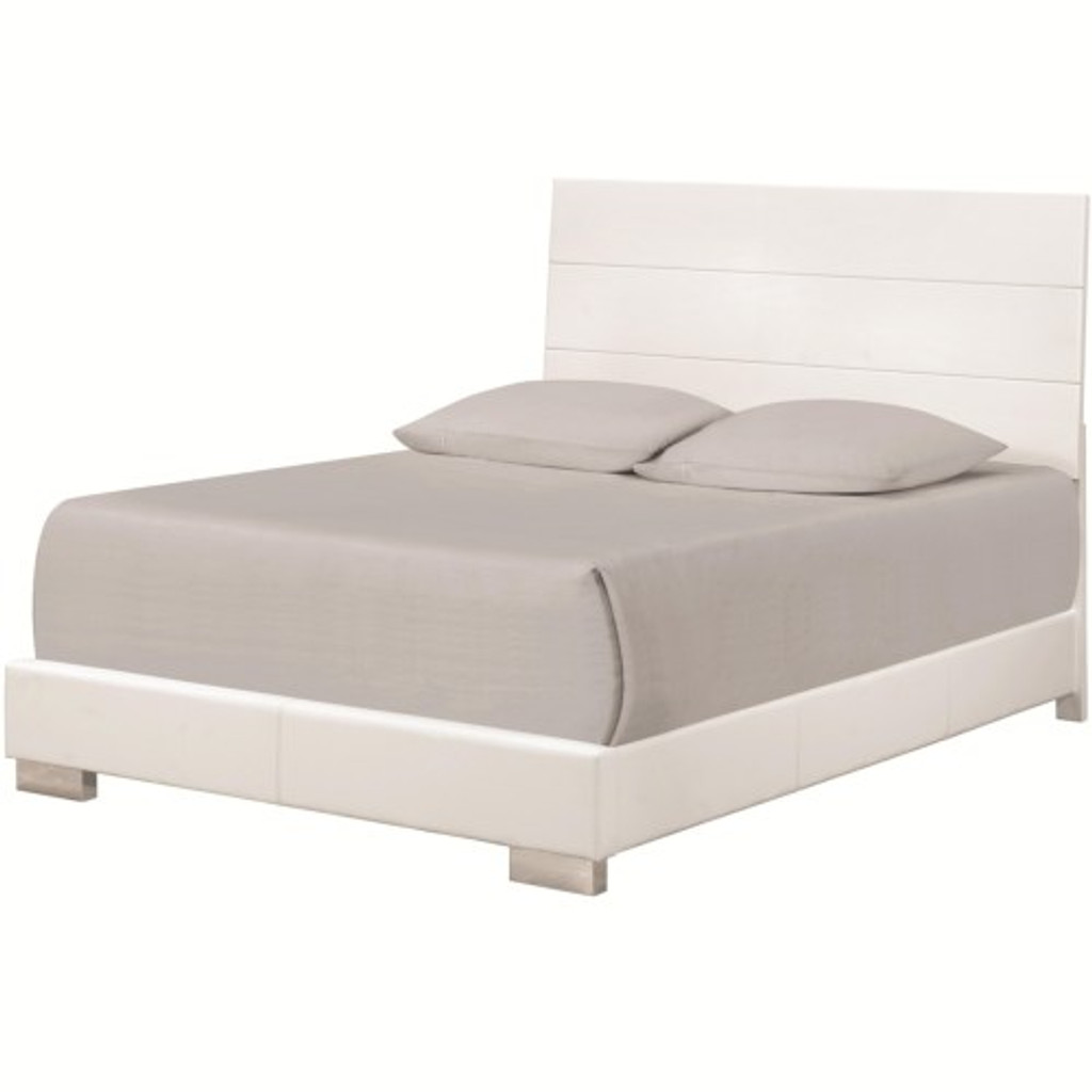 Felicity Queen Bed with Slat Styled Headboard