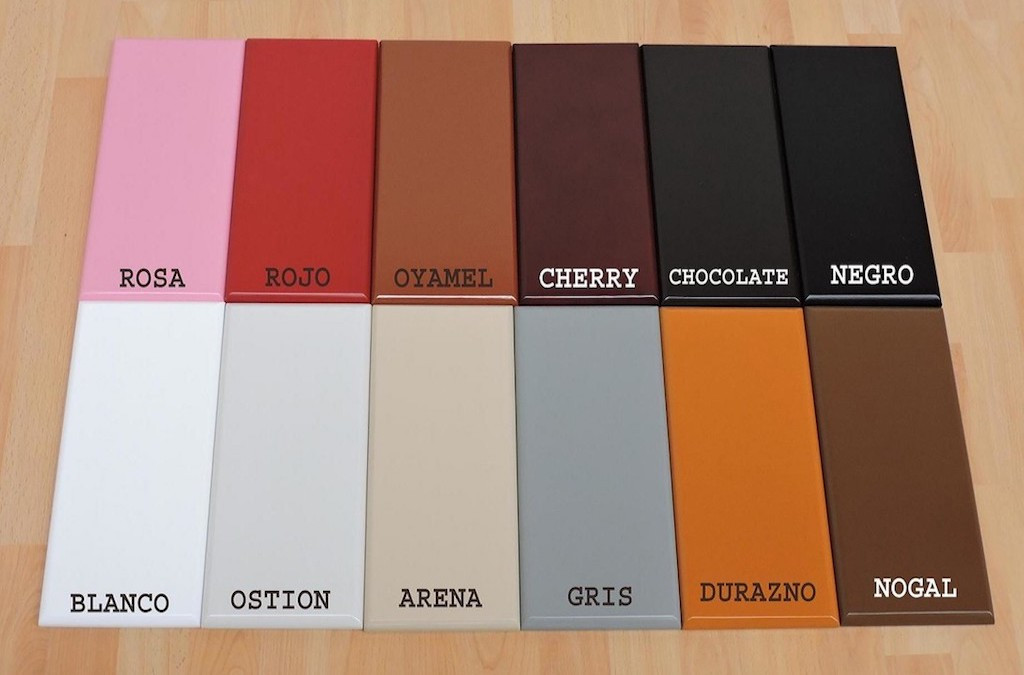 Colors: white, oyster, sand, gray, peach, walnut, pink, red, oatmeal, cherry, chocolate, black