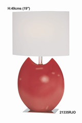 Red/White Table Lamp