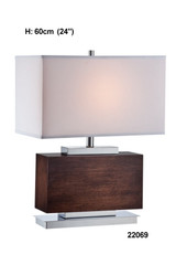 Wood/White Table Lamp