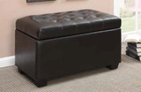 Dark Brown/Black Ottoman