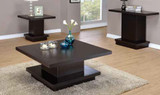 Cappuccino Pedestal Coffee Table