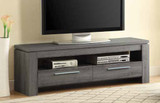 Weathered Grey TV Console
