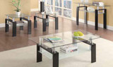 Black/Glass Side Table