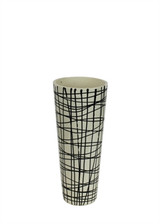 "Black/White Tapered 18.25"" Decorative Vase"