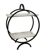 Marble/Metal 2 tier Tabletop Shelf