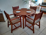 BENIDORM WOODEN DINING ROOM FOR 4 PEOPLE W/CHAIRS W/ARMS