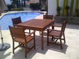 MALLORCA WOOD DINING ROOM FOR 4 PEOPLE