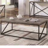 Coffee table with slat inlay tops