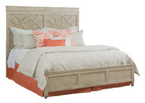 queen size bed decorative headboard in furniture store in Mexico