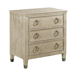 nightstand with three drawers in furniture store in Mexico