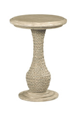round end table in furniture store in Mexico