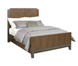 walnut queen bed complete in furniture store in Mexico