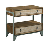 nightstand with two drawers and one shelf in furniture store in Mexico