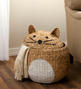 Wicker Cat Storage Basket