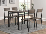 5-Piece Dining Set Ark Brown And Matte Black