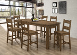 Coleman 5-piece Counter Height Dining Set Rustic Golden Brown