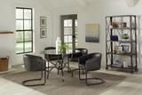 Aviano 5-piece Dining Set Gunmetal and Matte Black