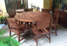 BENIDORM WOODEN DINING ROOM FOR 6 PEOPLE