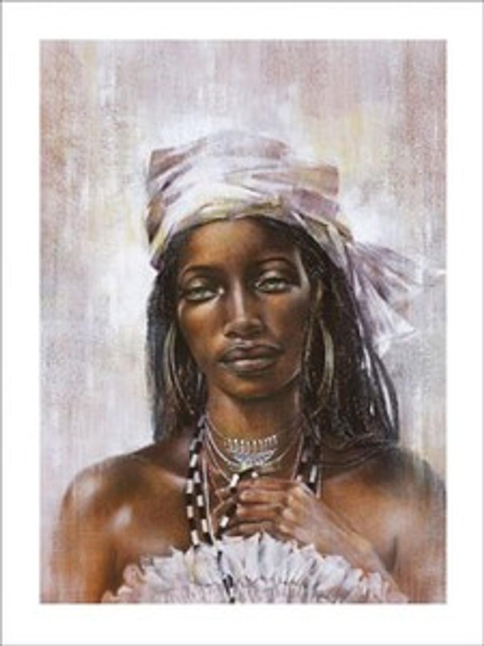AFRICAN AMERICAN ART PRINT Ebony II Ben Mogador
