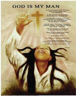 God Is My Man Art Print - Donald Young