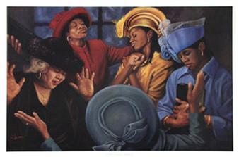 Crowns of Glory - Lift Him Up (12 x 16) Art Print - Henry Lee Battle