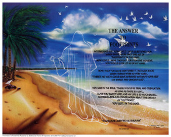 The Answer to Footprints (Shadow) (mini) Art Print - Donald Young