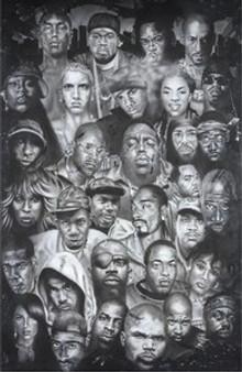 Hip-Hop Montage Art Print - Herbert Beyer