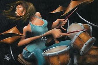 Lola Beats Art Print - David Garibaldi