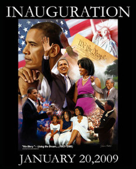 Barack Obama Inauguration: Living the Dream Art Print - Wishum Gregory
