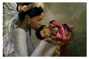 Heaven Sent (Girl)  art print by Henry Lee Battle