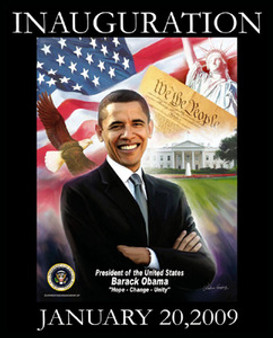 Barack Obama Inauguration: Hope, Change, Unity Art Print - Wishum Gregory