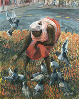 Feeding Time Art Print - John Holyfield