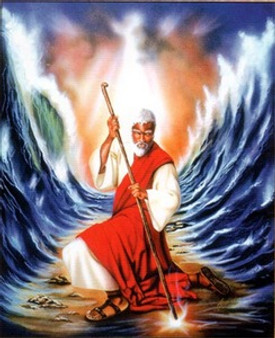 Moses Parting The Red Sea Art Print - Alan & Aaron Hicks