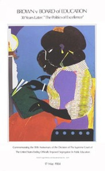 The Lamp (30th Ann. of Brown vs. Board of Education) Art Print Romare Bearden