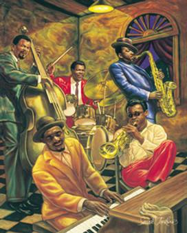 Cool Jazz (20 x 16in) Art Print - Sarah Jenkins