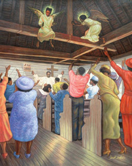Angels in the Rafters (36 x 24in) Art Print - Sarah Jenkins