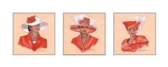 Hattitude in Red Art Print - Marcella Hayes Muhammad