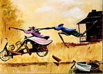 Go Cart Art Print - Frank Morrison