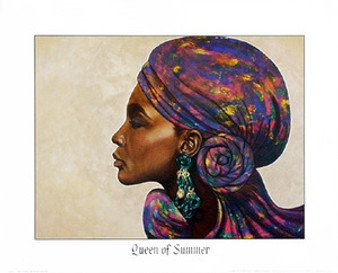 Queen of Summer Art Print - Marcella Hayes Muhammad