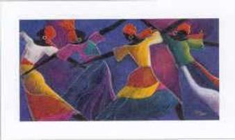 Caribbean Dancers Limited Edition Art Print - Monica Stewart