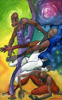 Dance Trio Giclee edition - Michael Wallace