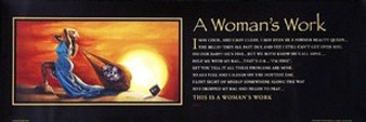 A Woman's Work (Statement Edition) Art Print - Kevin A. Williams WAK