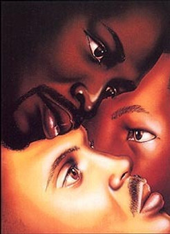 Black Is Black (Male) Art Print - Larry Poncho Brown